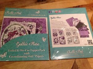 Lelli-Bot Crafts ~ Gothic Rose Skulls ~ Luxury Toppers & Papers Pack ~ PERFECT