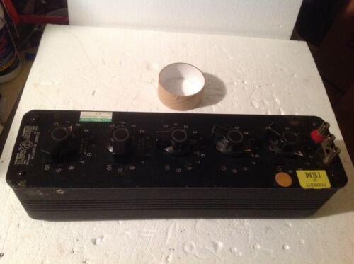 GENERAL RADIO DECADE RESISTOR TYPE 1432-P SERAIL #9141 used by IBM