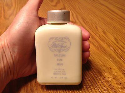 Vintage MIlk Glass Bottle Old Spice After Shave Talcum For Men 1 3/8 oz