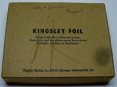 Kingsley Hot Foil Stamping Machine Antique Advertising Instructions Paper Lot