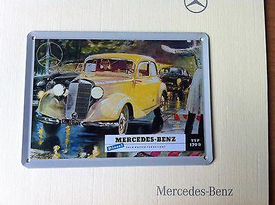 Mercedes Benz / Daimler Benz Werbeschild als absolute Rarität