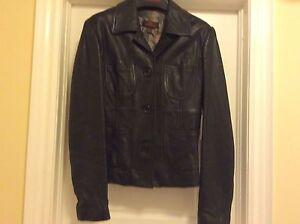 Danier black leather ladies jacket size small Kingston Kingston Area image 1
