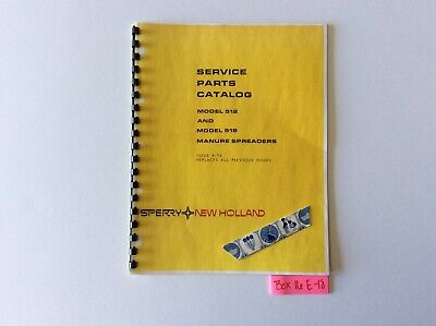 New Holland 512 And 518 Manure Spreaders 4-76 Service Parts Catalog