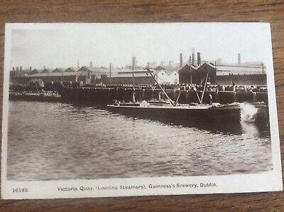 Irish Victoria Quay Loading Steamers Steamships Guinness Brewery Dublin Ireland
