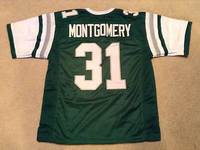 Unsigned Custom Sewn Stitched Wilbert Montgomery Green Jersey   M  L  Xl  2Xl
