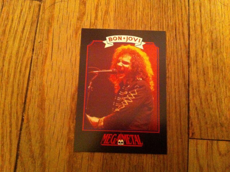 BON JOVI Vintage Trading Card 1991 Heavy Metal DAVID DAVE BRYAN Hard Rock Pop
