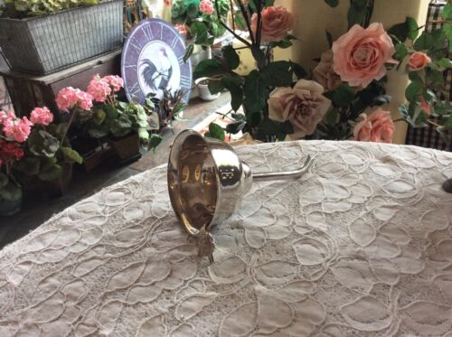 Rare Vintage Wallace Silversmiths Silver Plated Wine Funnel Strainer