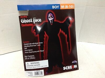 Fun World Bleeding Ghost Face Scream Halloween Costume Boys reaper M pump mask
