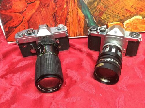 2 Vintage Cameras for Display Only as They May Not Work  - Sold As Is  LOT #111