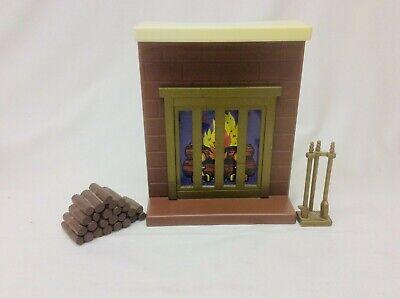 Vintage Meritus Barbie Furniture Living room Fire Place Mantle, Logs and Tools