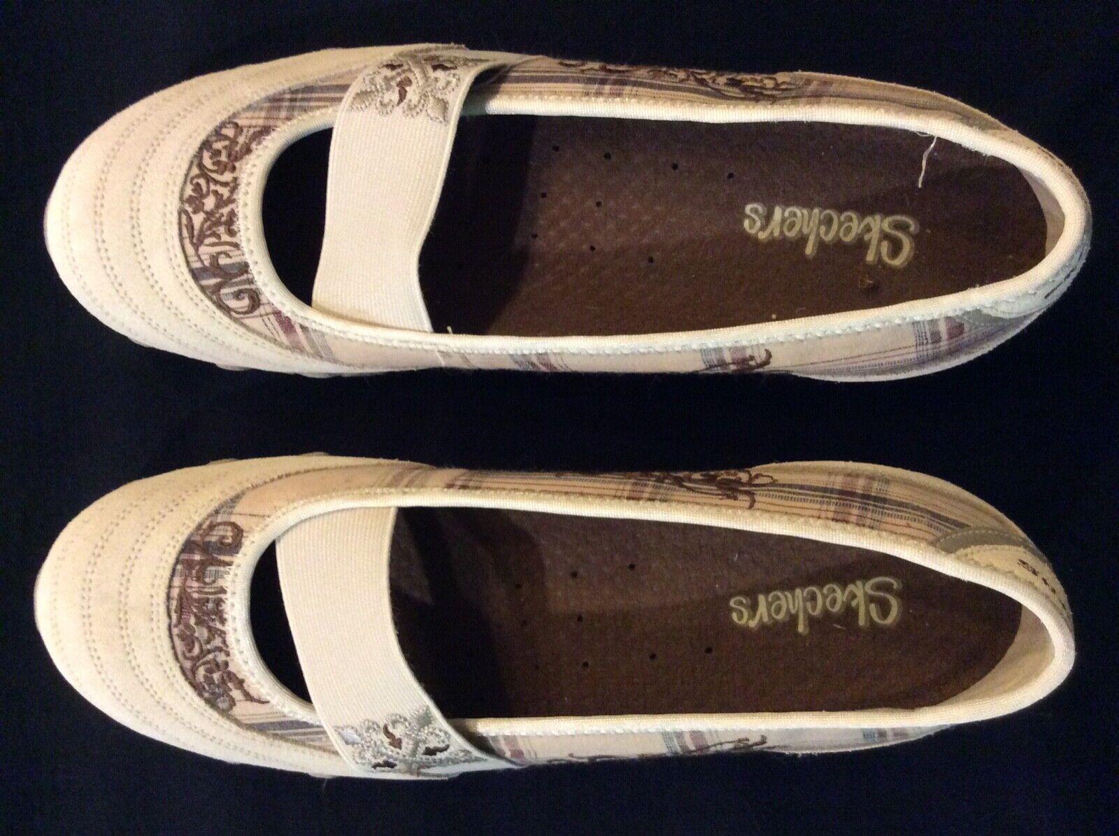 Skechers Women's Dress Shoes - Sz 10 - Lt Beige w/browns -