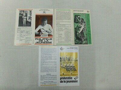 Vintage lot  de 3 feuillets PHILATELIE de la jeunesse ( prévente) 1971, 72, 80
