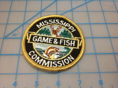 Vintage MISSISSIPPI Commission Game & Fish Embroidered Patch (M)