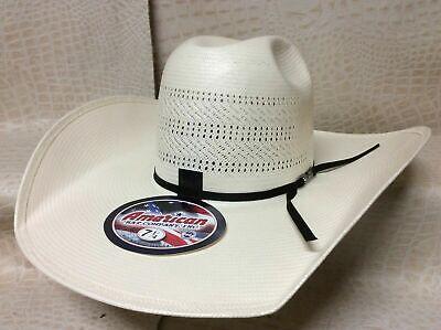 American Hat  Rodeo Western Cowboy Straw Hat Minnick Crown CHL 5 Inch Brim Brim Straw Cowboy Hat
