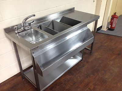 Cocktail Bar Station, Stainless Steel, Bar Sink & Fully Insulated Ice Well Unit