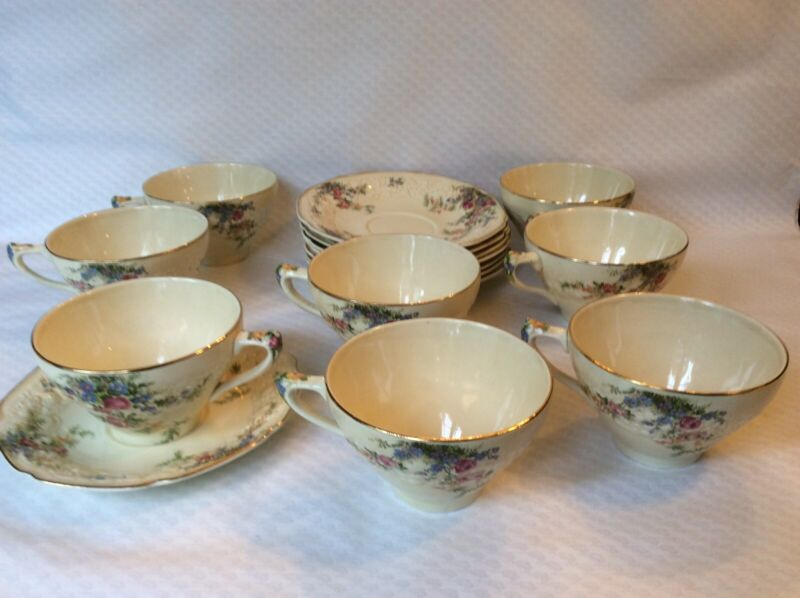 Crown Ducal Florentine Rosalie Cup and Saucer set(s)