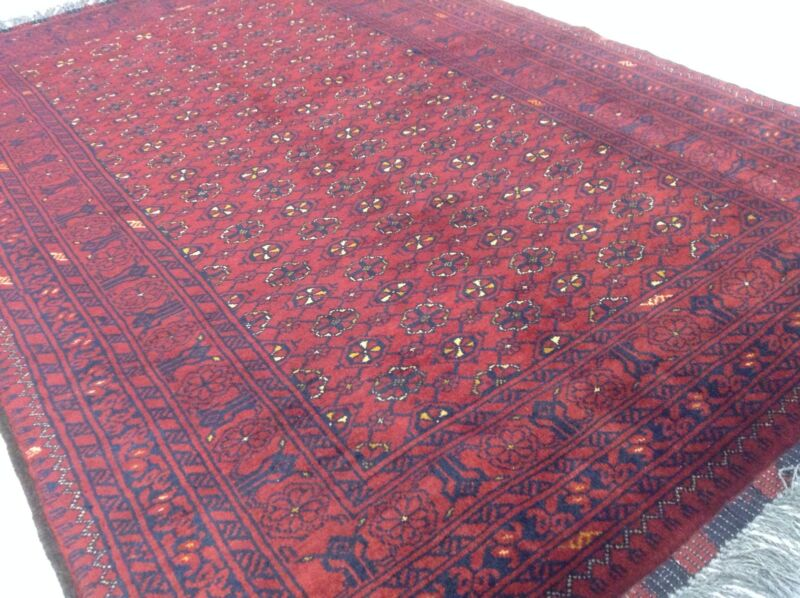 Tribal 3x5 Geometric Kunduz Hand Knotted Persian Oriental Wool Rug 3