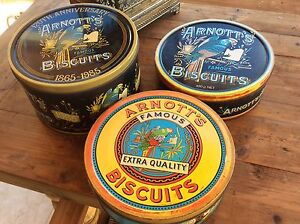 Vintage Retro Arnott's Biscuit Tins Future Collectibles Bundall Gold Coast City Preview