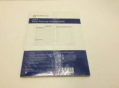 Franklin Covey Undated Daily Planning Foliopad Refill - Size 8.5x11fcf352-10