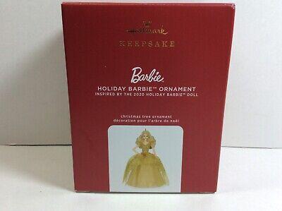 Hallmark 2020 HOLIDAY BARBIE Christmas Tree Ornament NIB 6th in Ornament Series
