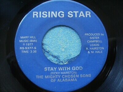 hear MEGA RARE SWEET SOUL GOSPEL - THE MIGHTY SONS OF ALABAMA - STAY WITH GOD 45