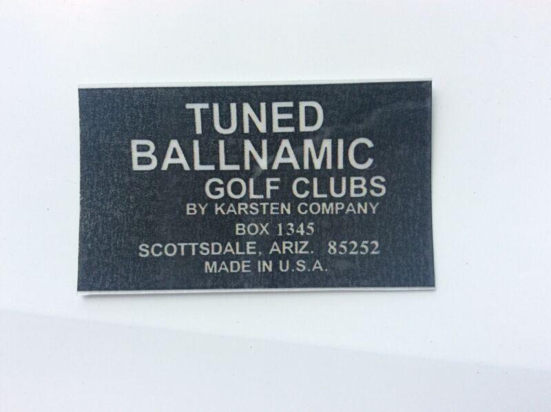 Tuned Ballnamic putter shaft band label classic Scottsdale Anser Karsten Co. $