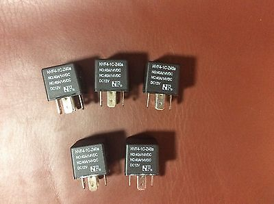 12V Relay NVF4-1C-Z40A. Lot of 5. NEW