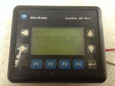 Allen Bradley Panelview 300 Micro 2711-m3a18l1 Ser. A Frn. 4.46 24 Vdc Tsc