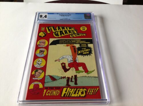FLAMING CARROT COMICS 16 CGC 9.4 WHITE 1ST APP MYSTERY MEN RENEGADE PRESS COMICS
