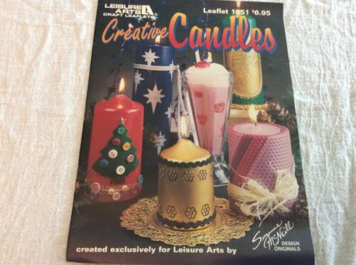 Leisure Arts Leaflet 1651 Creative Candles Candlemaking Gifts Projects Technique