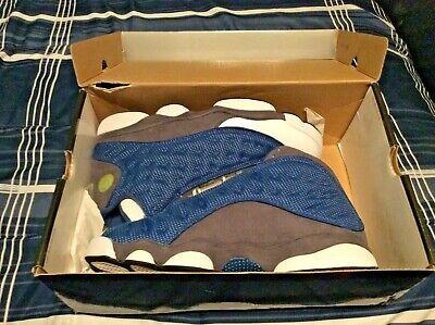 "Nike Air Jordan 13 Retro FRNCH BL/UNVRSTY BL-FLNT GRY-W Size 11.5 ""Flint"" 2010"