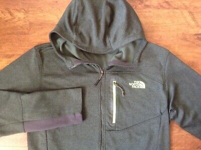 The North Face hoodie hooded jacket full-zip polyester olive green Men's M