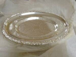 Vintage Queen Anne Silver plated serving dish glass dish Retro Cleveland Redland Area Preview