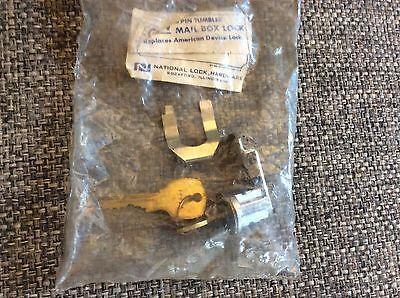 Usps National Lock Mail Box Lock 5-pin Tumbler Silver 2 Keys Metal Postal C8714