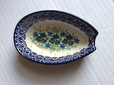 NEW C.A. Polish Pottery Spoon Rest-Ivy