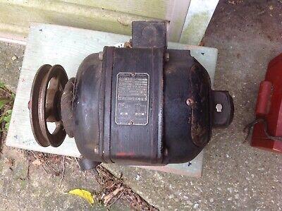 Vintage Leland Motor Ac Repulsion Induction 13 Hp