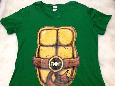 TMNT Teenage Mutant Ninja Turtle Tee Shirt XL L Women's Jrs Juniors  (Womens Ninja Turtle Shirt)