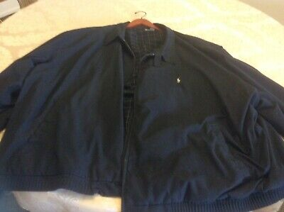 Polo Ralph Lauren Black Lined Jacket Big and Tall 5XL