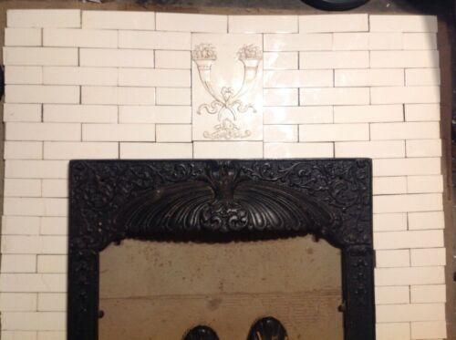 Complete Set Vintage Antique Fireplace Tile Tiles Mantle Lot AET Encaustic Trent
