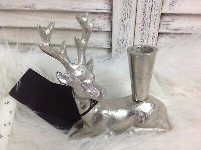 Silber Hirsch Kerzenhalter Dekoration Weihnachten Colmore Winter  online kaufen