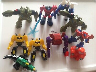 Mcdonalds Transformers Happy Meal Toys Lot of 10