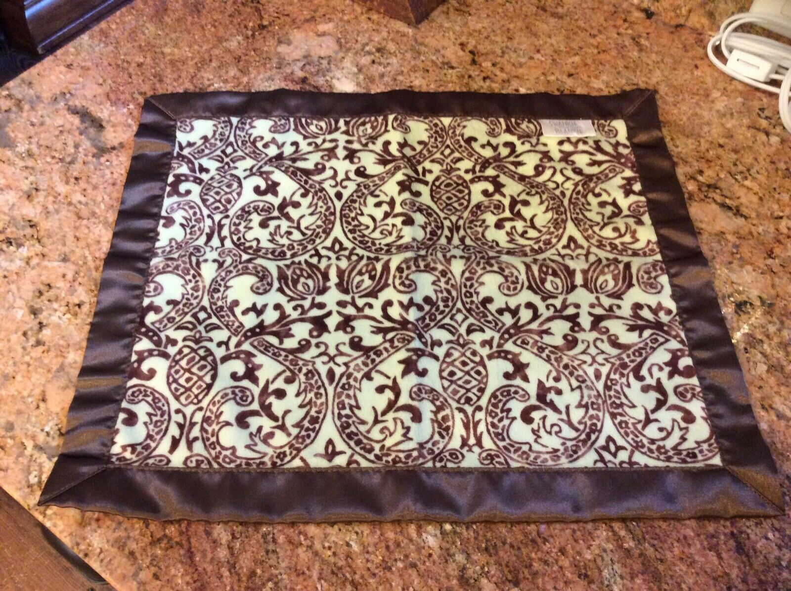 Swankie Blankie Plush Satin Baby Security Blanket NWOT - $10.00