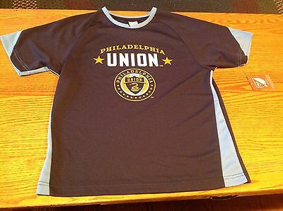Navy Blue Youth Primary T-shirt - MLS Philadelphia Union Youth Navy Blue Primary Logo T-Shirt, Size Youth Lge, NWT