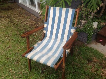Vintage deck chair - Antique Furniture: Deck Chairs And More Antiques Gumtree