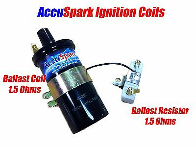 AccuSpark Back  Ballast  Ignition coil + 1.5 ohm Ballast Resistor