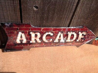 Directional Sign (Arcade This Way To Arrow Sign Directional Novelty Metal 17
