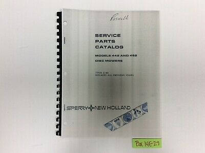 New Holland 442 And 462 Disc Mowers 2-83 Service Parts Catalog