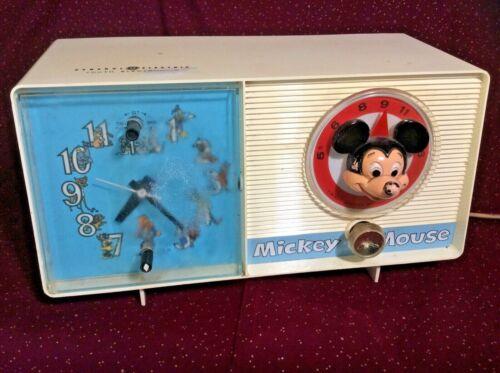 Vintage Mickey Mouse AM Radio/Alarm Clock  General Electric  C2418A   Disney