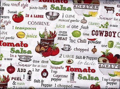 Kitchen Recipes Chili Guacamole Curtain Valance