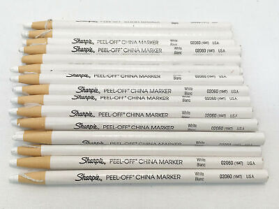 Lot Of 24x Sharpie Pro Wax Pencil Peel Off White China Markers